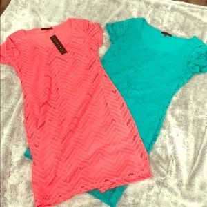 2- Tiana B. Size Small Pink/Green Dresses